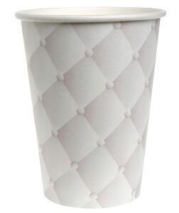 Gobelet capitonné blanc (x10) REF/4536