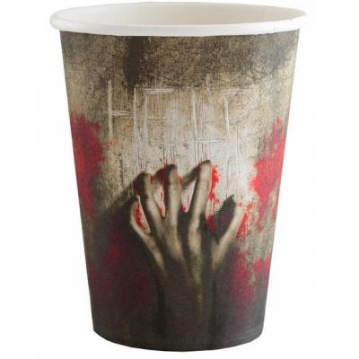 Gobelet en carton Halloween thème Zombie (x10) REF/5891
