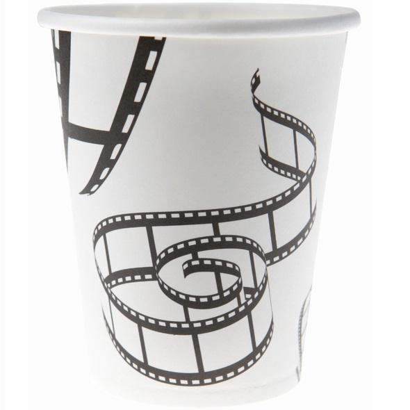 Gobelet cinema noir et blanc