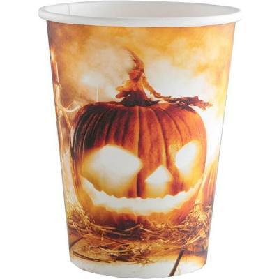 Gobelet carton Halloween thème citrouille (x10) REF/5897