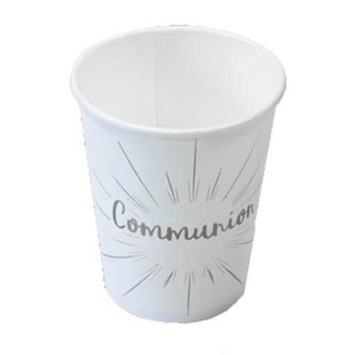 Gobelet communion blanc et argent