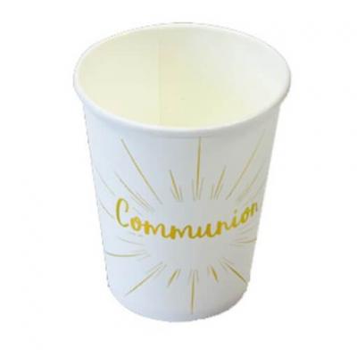Gobelet communion blanc et or 270ml (x6) REF/JET014