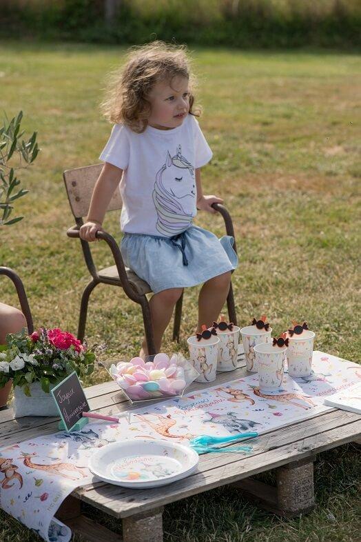 Gobelet en carton jetable anniversaire enfant zoo