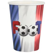 Gobelet football tricolore France en carton (x10) REF/6817