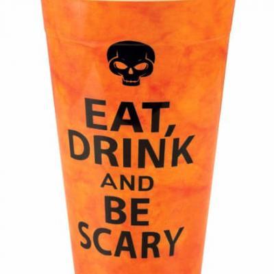 Gobelet Halloween tête de mort: Orange (x1) REF/47730