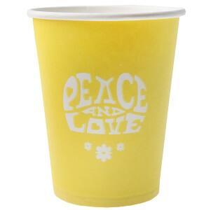 Gobelet Hippie jaune (x10) REF/3894