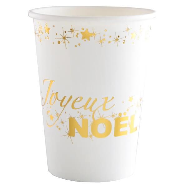 Gobelet joyeux noel or 1