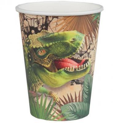 Gobelet en carton Dinosaure Jurassic (x10) REF/7286