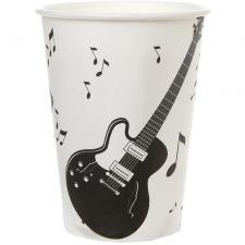 Gobelet musique blanc et noir (x10) REF/70459