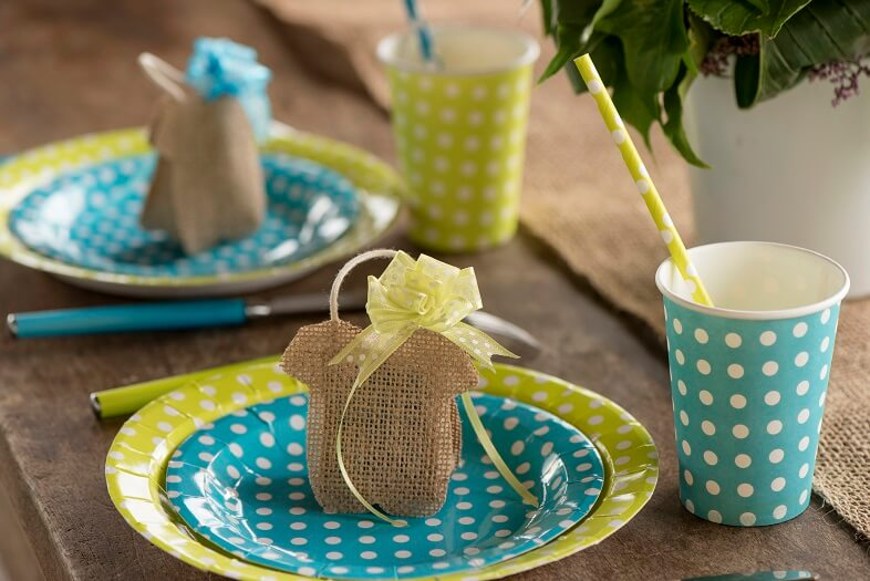 Gobelet pois bleu turquoise