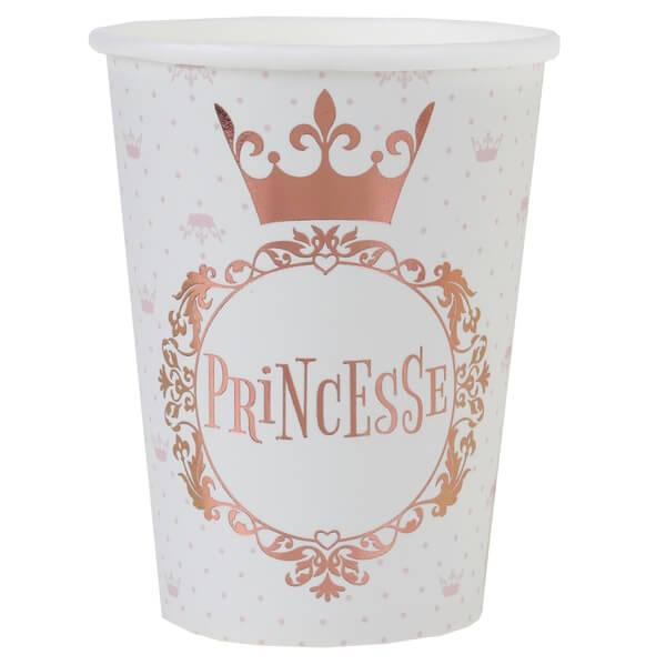 Gobelet rose gold princesse