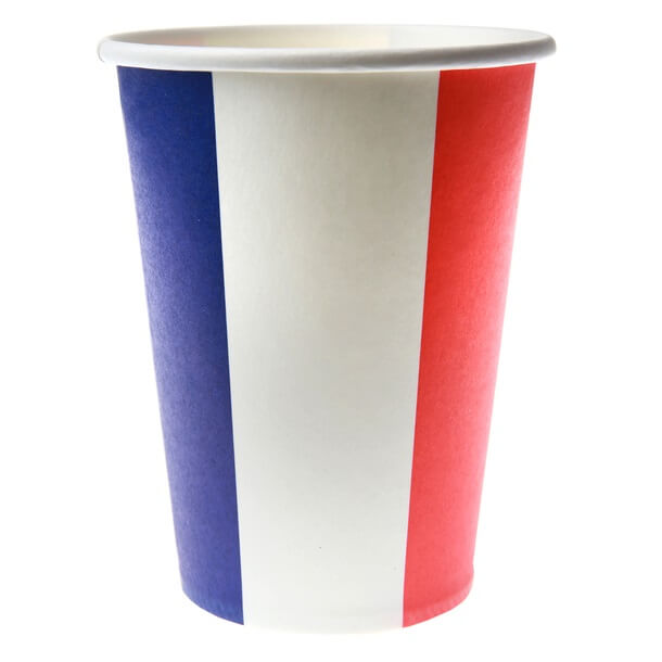 Gobelet tricolore france