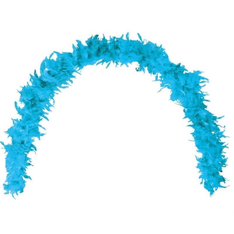 Grand boa bleu turquoise en plumes pour fete