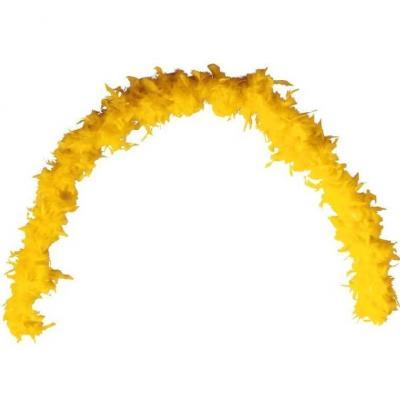 Grand Boa jaune en plumes pour votre fête de 180cm (x1) REF/21604