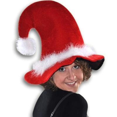 Grand chapeau de Noël adulte rouge et blanc (x1) REF/N8217