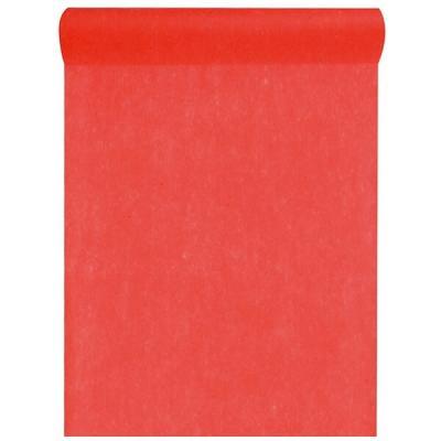 Chemin de table in tissé rouge 60cm x 10m (x1) REF/2810