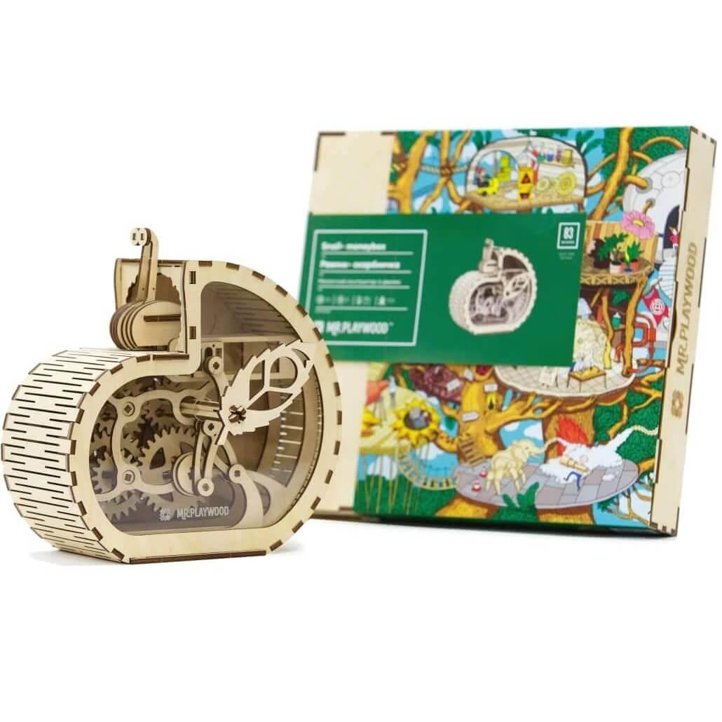 Grand jeu puzzle 3d en bois mr playwood tirelire escargot