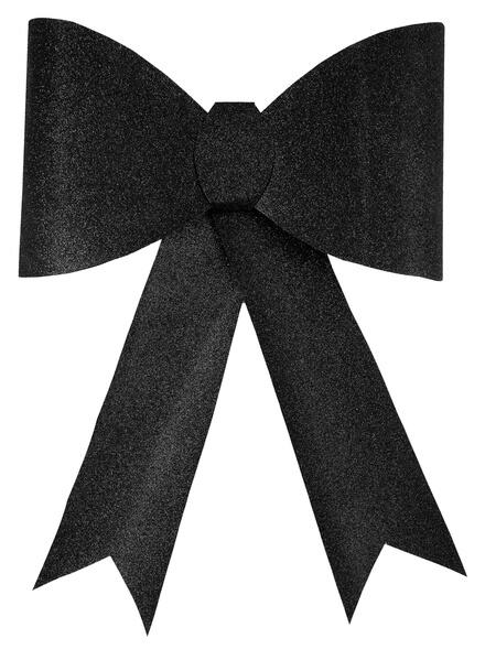 Grand noeud paillete noir