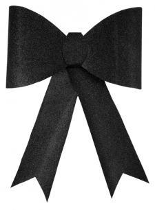 Grand noeud pailleté sur pince: Noir (x1) REF/4413