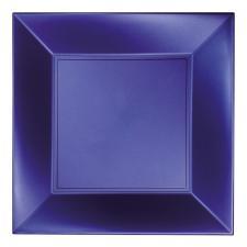 Grande assiette bleu perlé incassable 29cm (x8) REF/58056