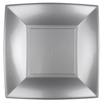 Grande assiette grise incassable 29cm (x8) REF/58056