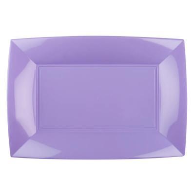 Grande assiette rectangle lilas incassable (x3) REF/58055