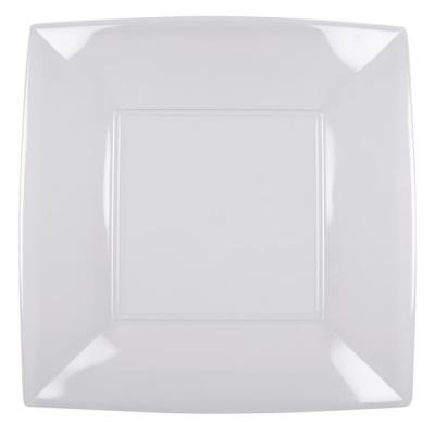 Grande assiette transparente incassable 29cm (x8) REF/57056