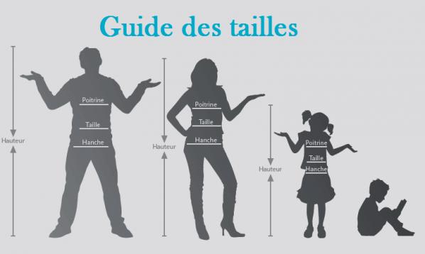 Guide des tailles deguisements et des costumes de fete et carnaval