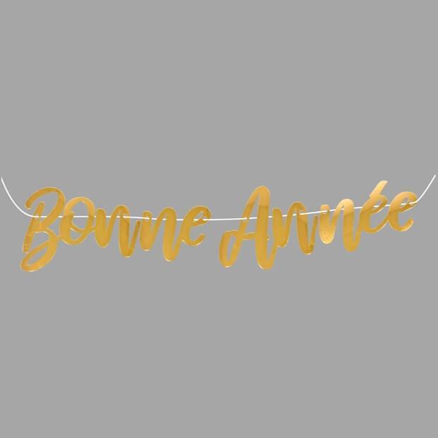 Guirlande avec lettres bonne annee or metallique