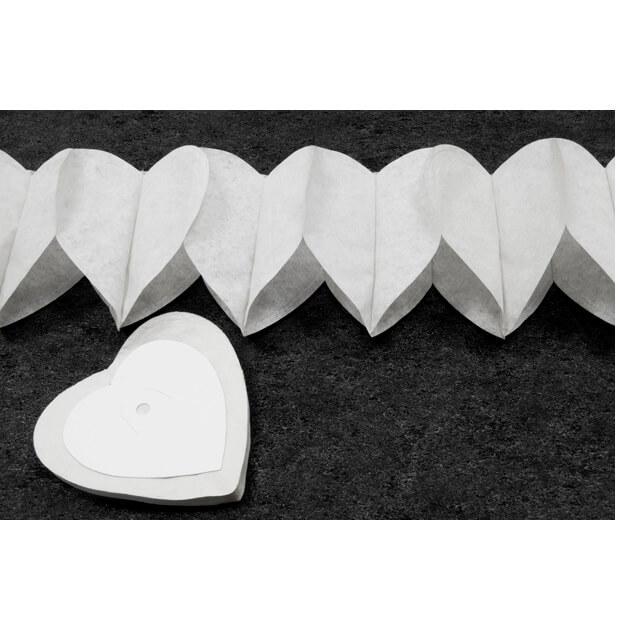 Guirlande blanche coeur pour mariage