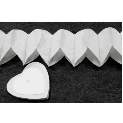Guirlande coeur blanc, 4m (x2) REF/GUI054