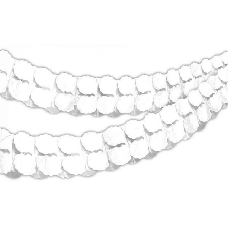 Guirlande boa en papier blanc