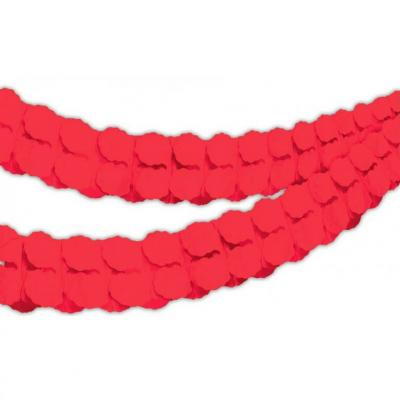 Guirlande Boa en papier rouge 4m (x1) REF/GBPR