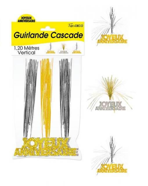 Guirlande cascade anniversaire or