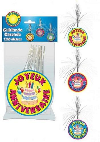Guirlande cascade joyeux anniversaire
