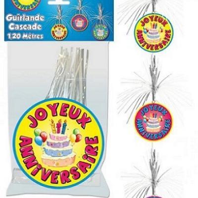 Guirlande cascade joyeux anniversaire (x1) REF/GC00