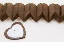 Guirlande coeur marron, 4m (x2) REF/GUI054