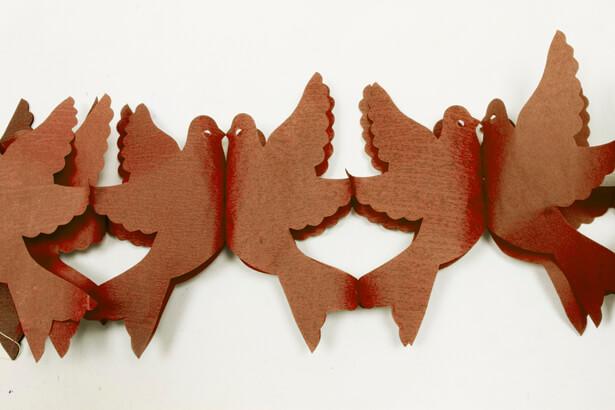Guirlande colombe marron