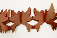 Guirlande colombe marron (x1) REF/GUI053