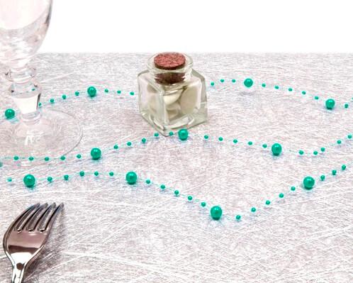 Guirlande de decoration bleu jade