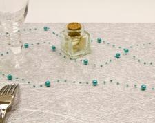 Guirlande de décoration bleu turquoise (x1) REF/DEC445