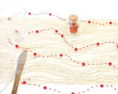 Guirlande de decoration rouge