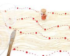 Guirlande de décoration rouge (x1) REF/DEC445