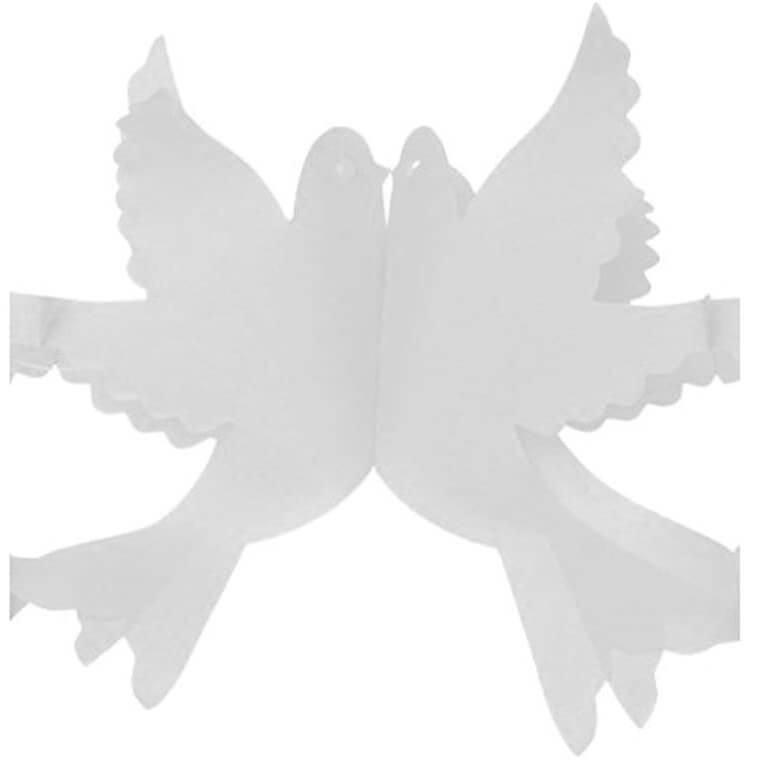 Guirlande elegante mariage colombe blanche