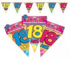 Guirlande fanion anniversaire 18ans (x1) REF/GF02