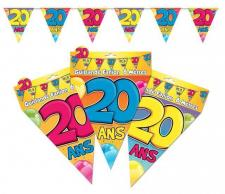 Guirlande fanion anniversaire 20ans (x1) REF/GF03