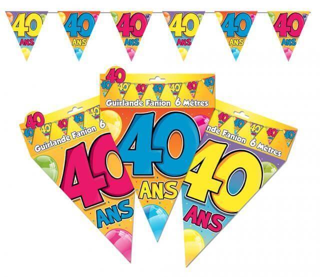 Guirlande fanion 40 ans