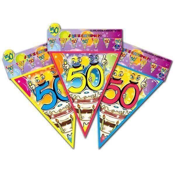 Guirlande fanion anniversaire 50 ans