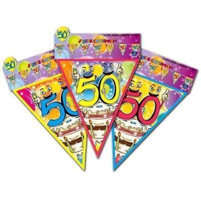Guirlande fanion anniversaire: 50ans (x1) REF/GF06