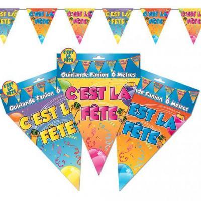 Guirlande fanion c'est la fête (x1) REF/GF10